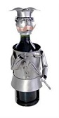 Metal Wine Bottle Caddy Figurine