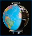 Illuminated Lighted Globe Light