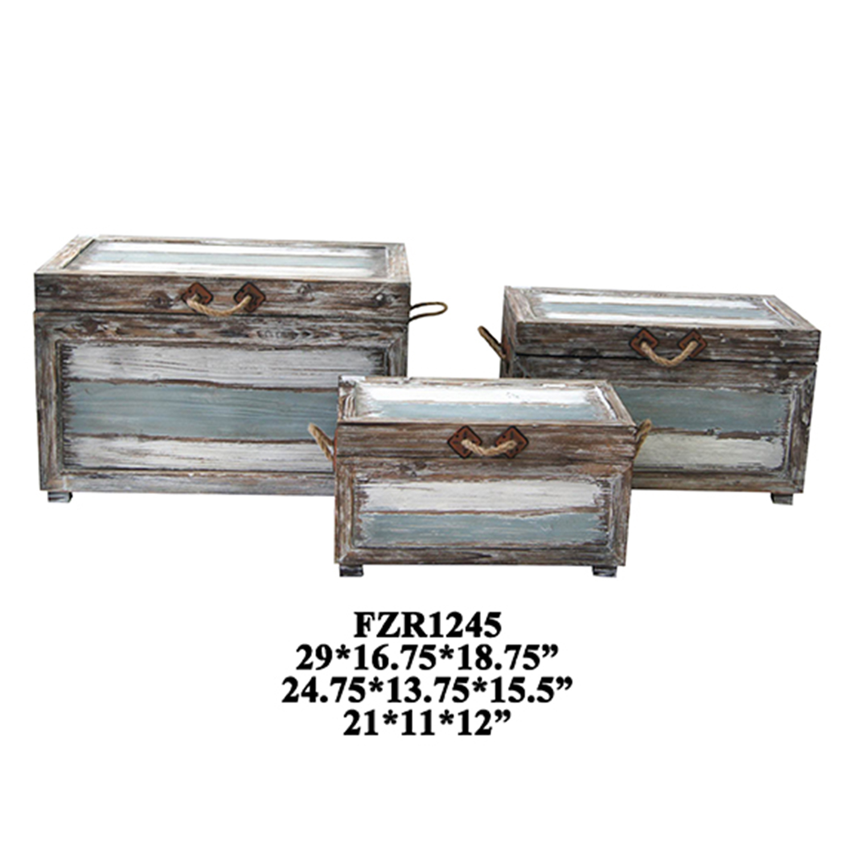 Nantucket Weathered Wood Trunks Furniture
