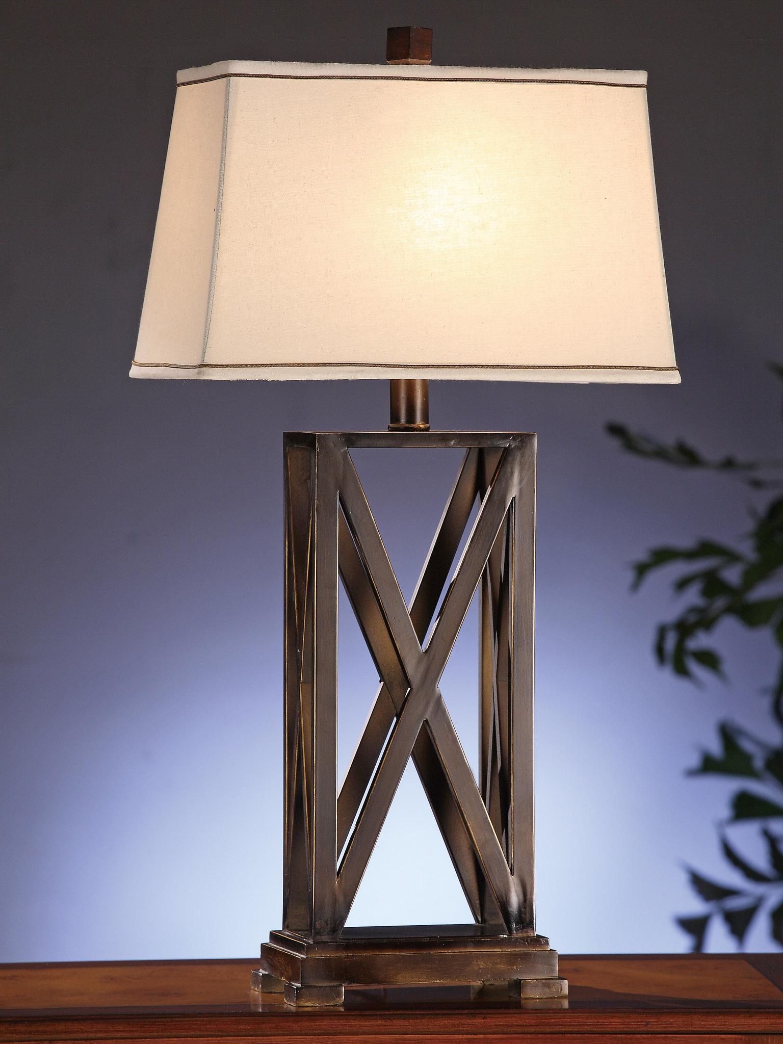 Criss Cross 32 5 Quot Bronze Amp Metal Lamp