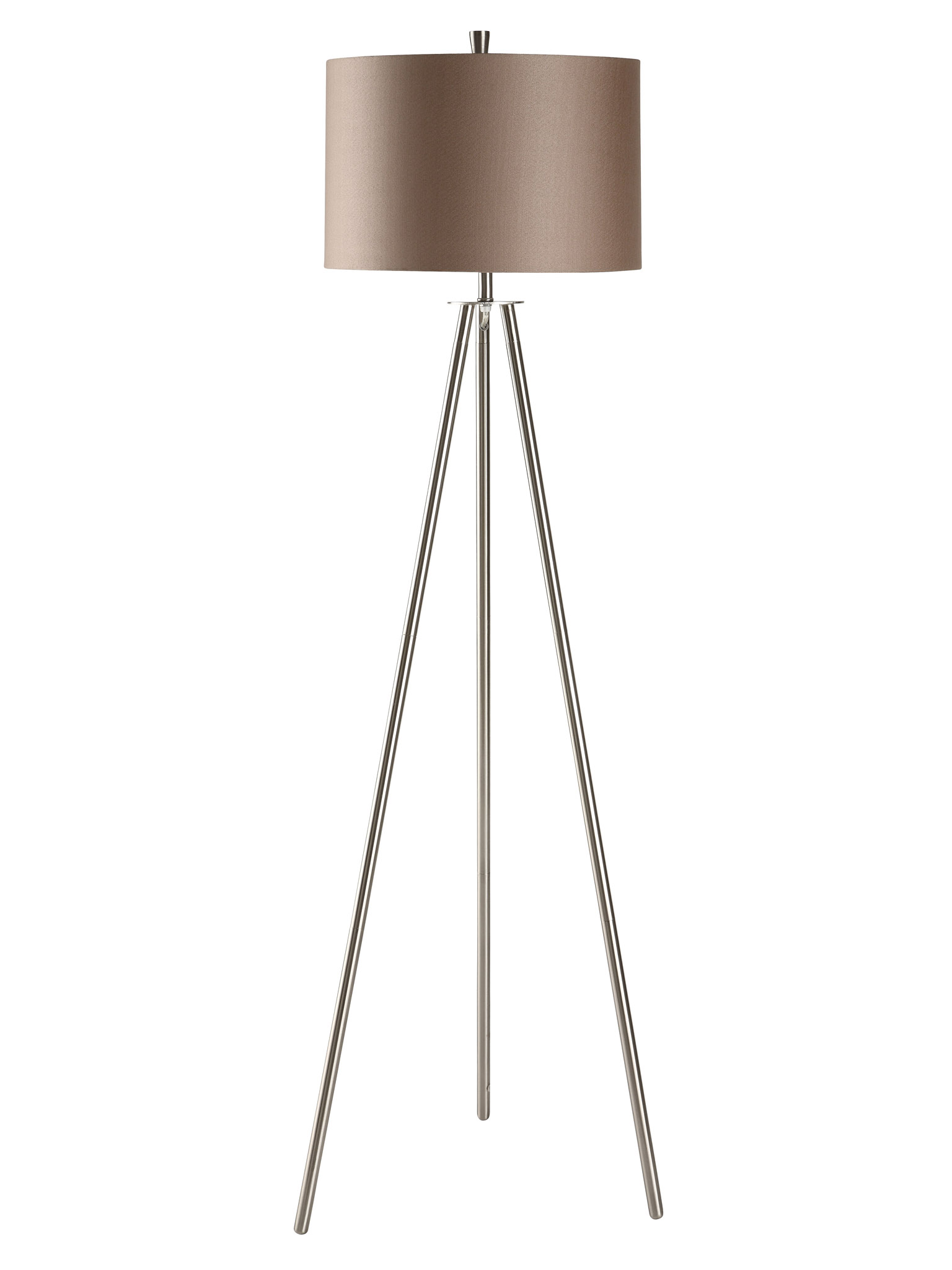 60 Quot Tripod Nickel Amp Metal Floor Lamp