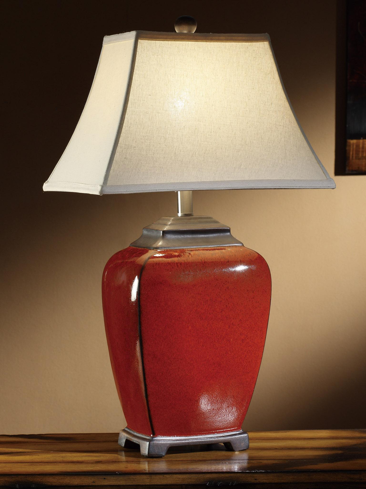 Antique Lamp Globes >> Raina China Red Table Lamp
