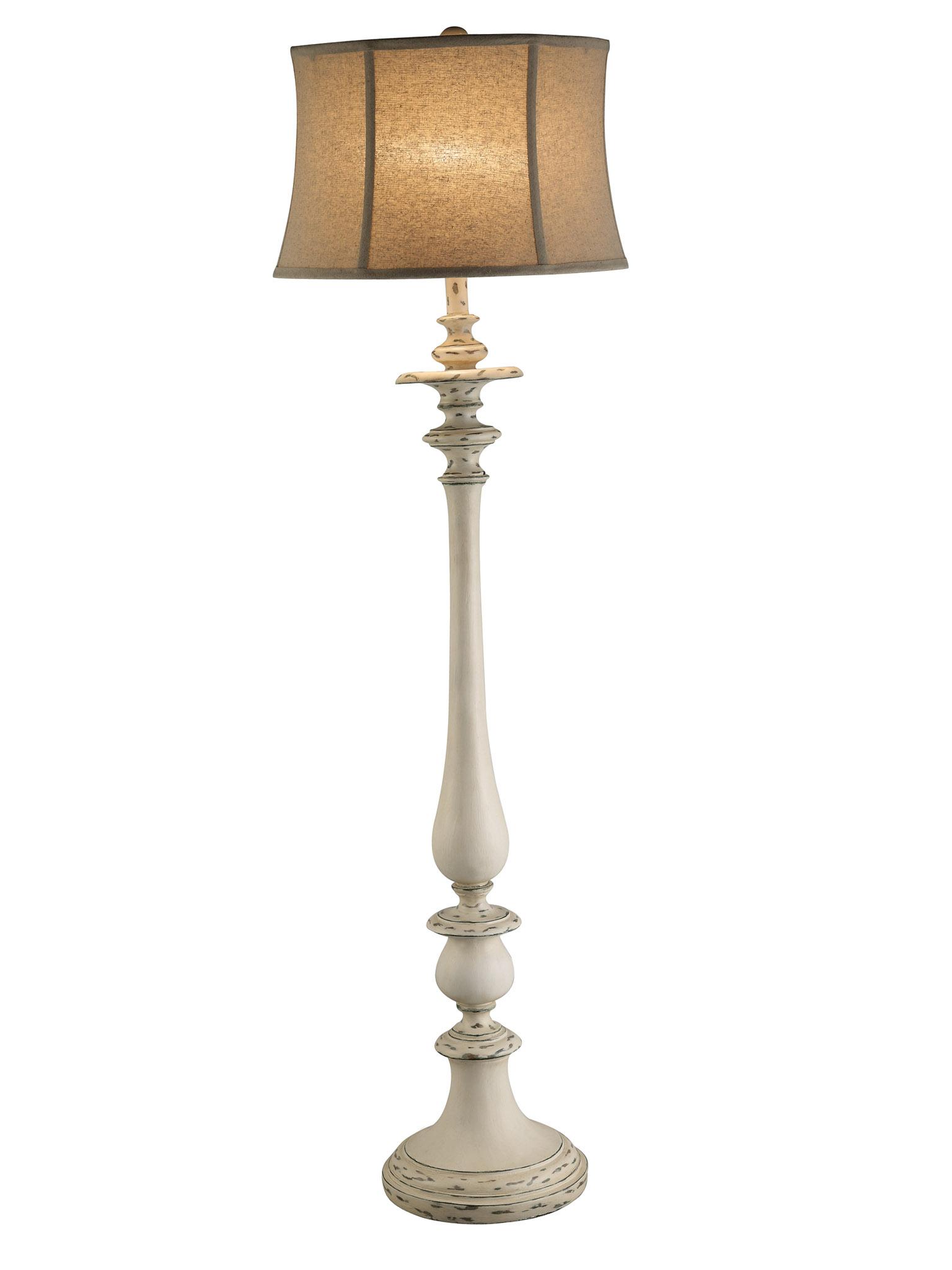 Cottage 60 25 Quot White Floor Lamp