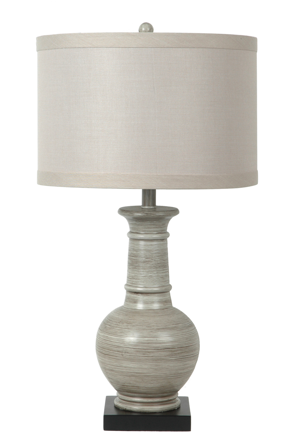 Darby White Wood Amp Resin Table Lamp