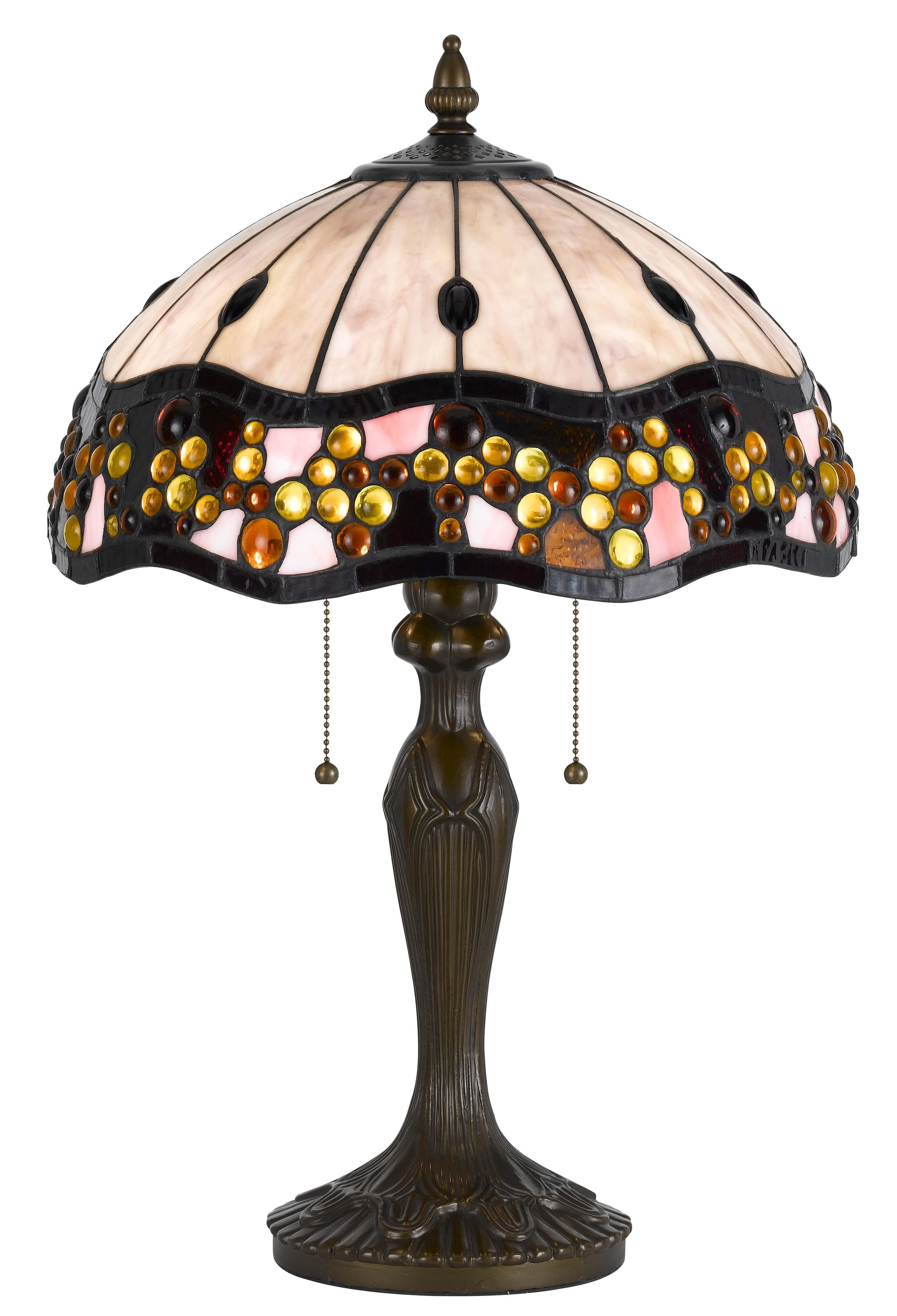 Style 14 Tiffany Brass Metal Amp Glass Lamp