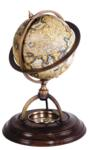 Terrestrial Globe With Compass Nautical Accent Decor
