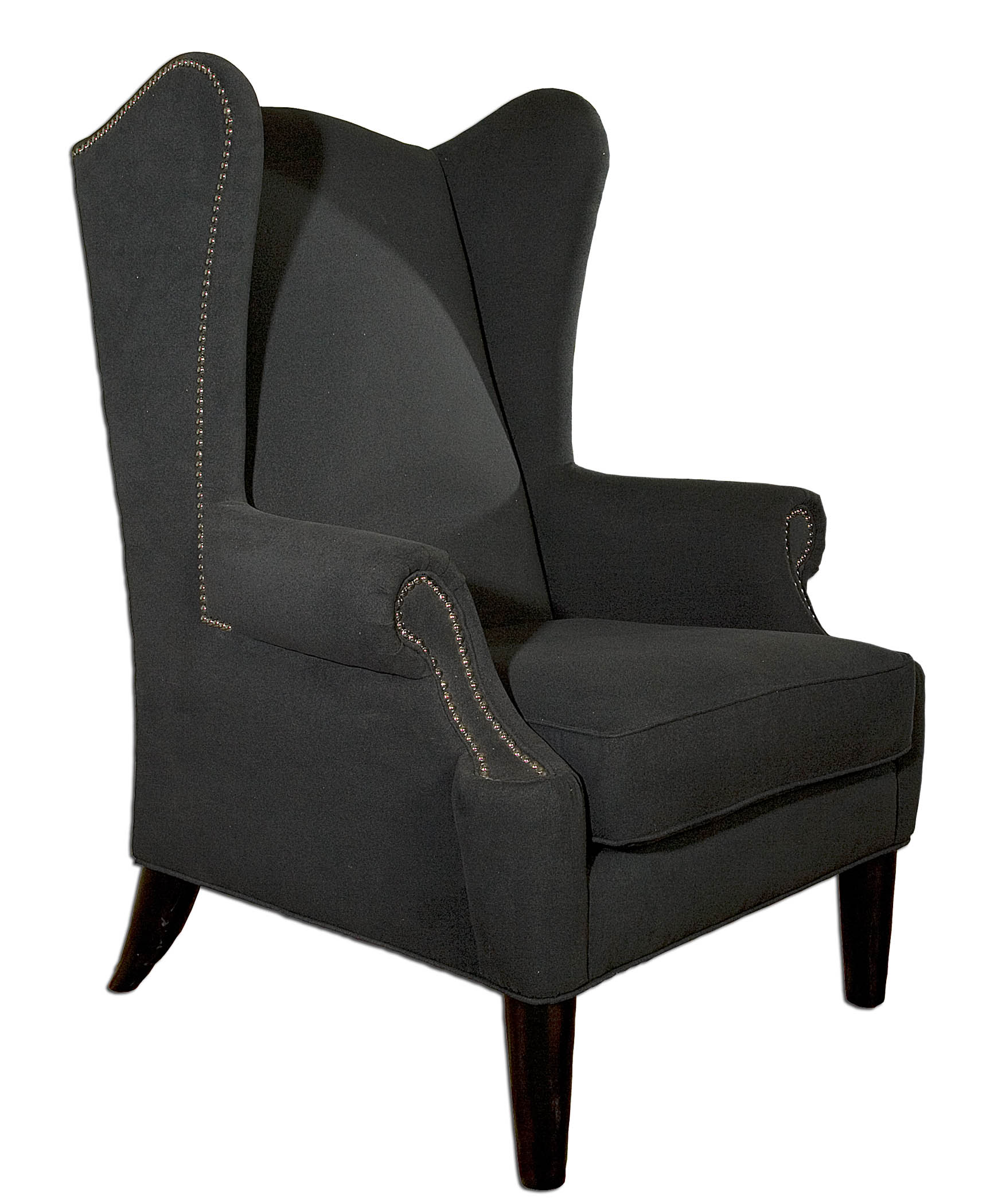 Wing chair arm chair tall living room chair 50 tall for Comfortable wingback chair