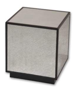 Matty Decorative Mirrored Cube Accent Furniture