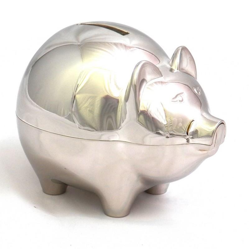 Silver piggy bank bing images - Engraved silver piggy bank ...