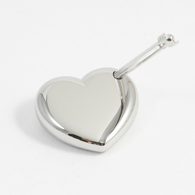 Arrow Pen W Heart Stand Nickel Plated Men necklace arrow head shape pendant long chain choker jewelry fashion metal. http www worldtohome com arrow pen w heart stand nickel plated aspx