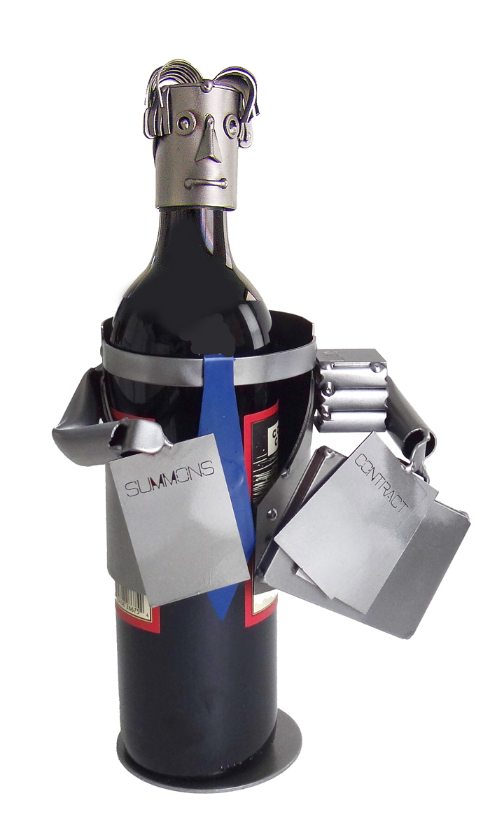 Male Attorney Metal Wine Caddy