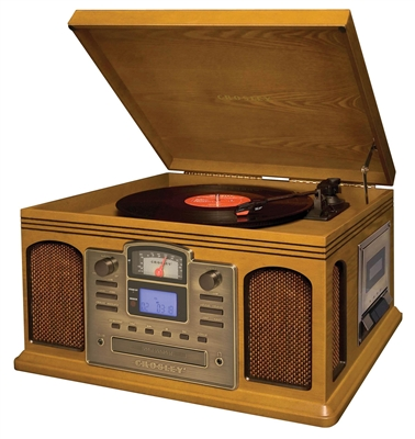 Crosley Director Cd Recorder With Cassette Player Oak