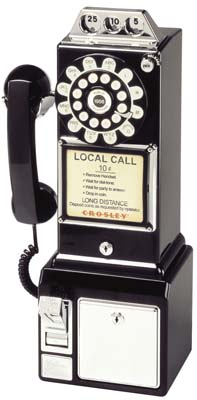 Black 1950 S Classic Antique Pay Phone Antique Wall Phones By Worldtohome Com