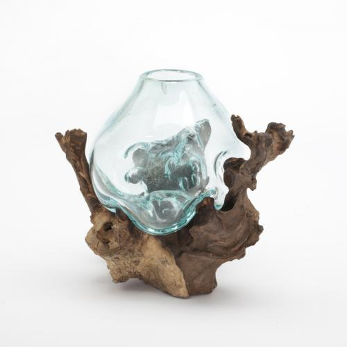 Molten Sculptural Glass Bowl 6 Quot X 7 Quot