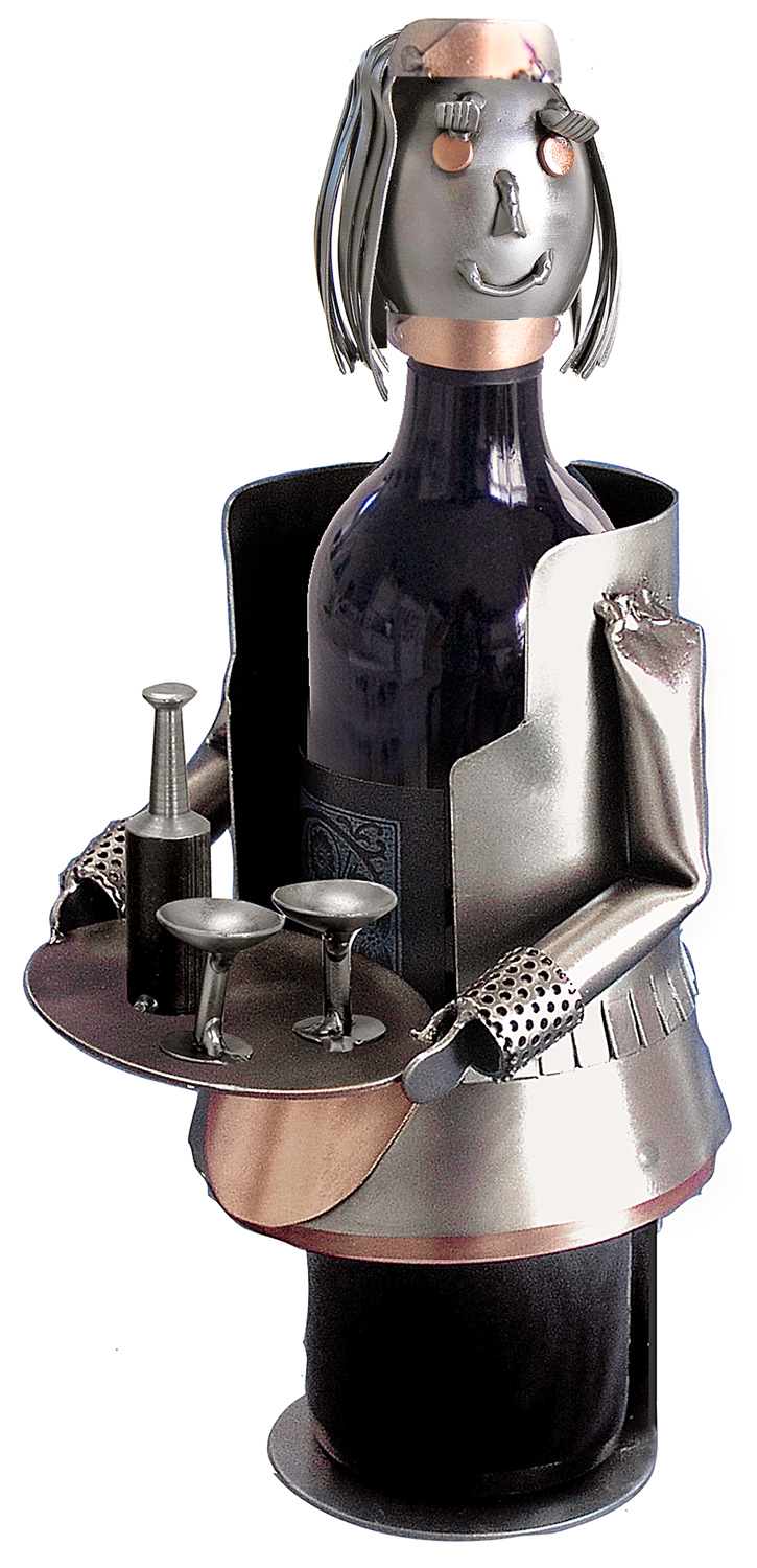 French Maid Metal Wine Caddy
