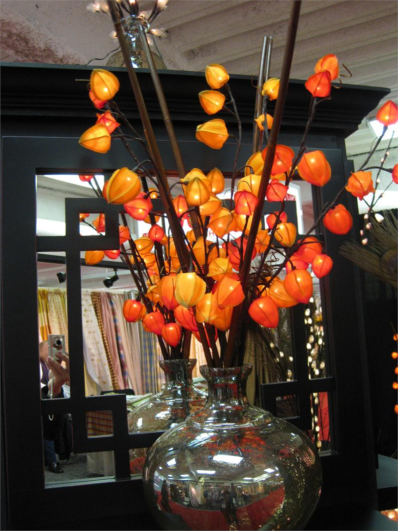 Chinese Lantern Wall Lights : Red Chinese Lantern 30 Lights Lighted Branches Chinese Lantern Lighted Branches