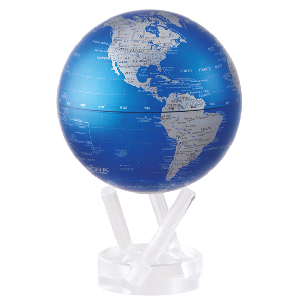 6 Quot Cobalt Blue And Silver Mova Globe