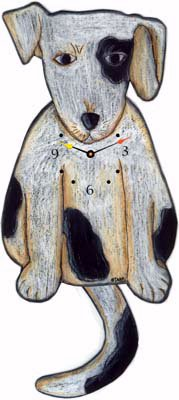 Black Eye Wagging Tail Dog Clock Wagging Tail Dog Clocks
