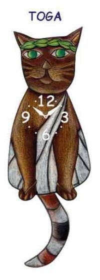 toga cat clock