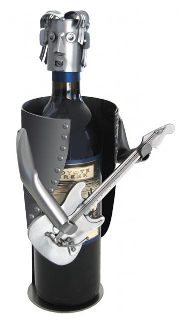 Electric Guitar Player Metal Wine Bottle Holder Metal Wine