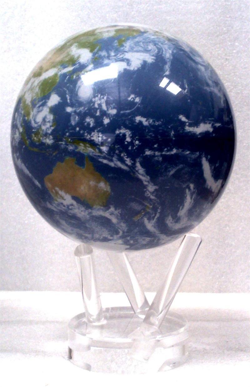 4.5u0026quot; Blue Ocean - Satellite View with Clouds Mova Globe 4.5 Mova Globe