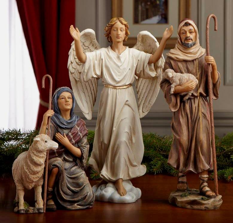 The Shepherds And Angel Nativity Scene Nativity Scene