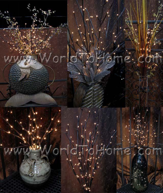 Large 38in 96 Light Willow Branch Lights Willow Branch Lights