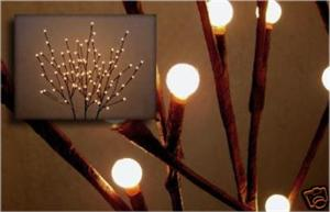 Small 19in. 60 Light Pussy Willow Branch Lights Pussy Willow Lights