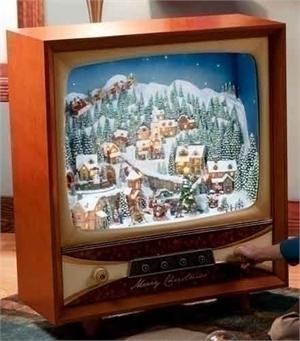 "36"" TV with Christmas Scene Animated Musical Television Sets"