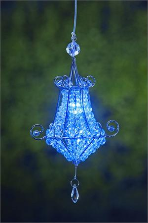 Anywhere Mini Chandelier Blue Indoor/Outdoor LED Hanging Lights