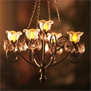 "Anywhere ""Kami"" Series Chandelier Bronze Indoor/Outdoor LED Hanging Lights"