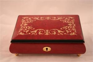 Red Small Music Box (Style 70) Music Boxes