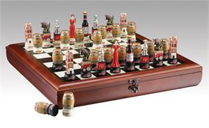 Anheuser Busch Chess Set Anheuser Busch Poker and Chess Sets