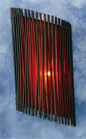 Red Hanging Bamboo Wall Lamp Hanging Bamboo Wall Lamps