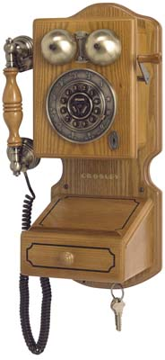 1920 S Country Kitchen Wooden Wall Telephone Wooden
