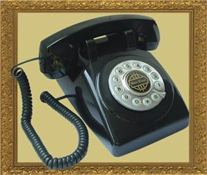 1950 Old Fashioned Telephone Black American Classic Antique Telephones