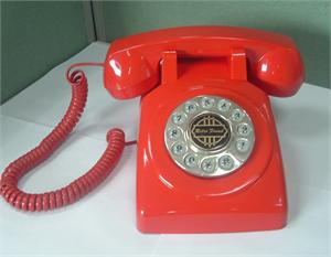 1950 Old Fashioned Telephone Red American Classic Antique Telephones