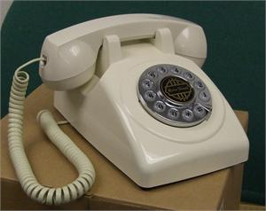 1950 Old Fashioned Telephone White American Classic Antique Telephones