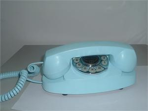 1959 Princess Blue Antique Reproduction Telephone American Classic Antique Telephones