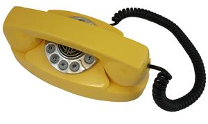 1959 Princess Yellow Antique Reproduction Telephone American Classic Antique Telephones