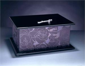 Rose Treasure Chest Glass Treasure Chest Art