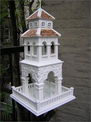 Tiered Pagoda Feeder Architectural Birdhouse Mansions