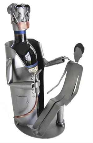 Dentist with Patient Wine Bottle Holder Professional Metal Wine Caddys