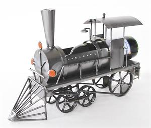 Locomotive Metal Wine Sculpture Metal Wine Bottle Holders