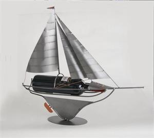 Sailboat Metal Wine Sculpture Metal Wine Bottle Holders