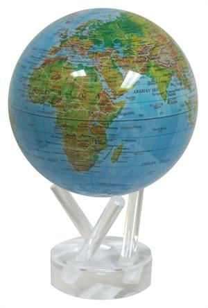 "4.5"" High Gloss Blue Ocean - Relief Map Mova Globe 4.5 Mova Globe"