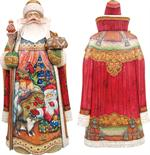 All Through the House Carved Santa G DeBrekht Hand Painted & Carved Wooden Figurines