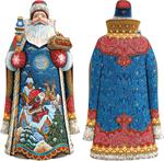 Special Delivery Carved Santa G DeBrekht Hand Painted & Carved Wooden Figurines