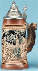 Bewildered Hunter Stein Wildlife Steins