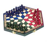 Tri-Color Three Way Wooden Chess Set Three Way Wooden Chess Sets